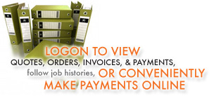 Logon to View Quotes, Orders, Invoices, & Payments